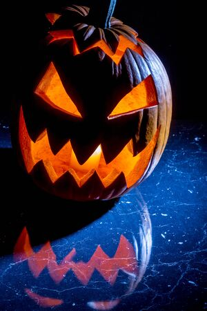 jack o latern: Pumpkin with candle lighted for halloween