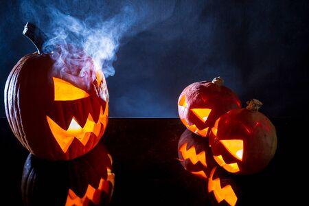 jack o latern: umpkins as Halloween holiday symbol