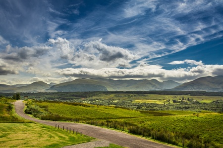Path leading to the mountains in Scotland Stock Photo - 15324341