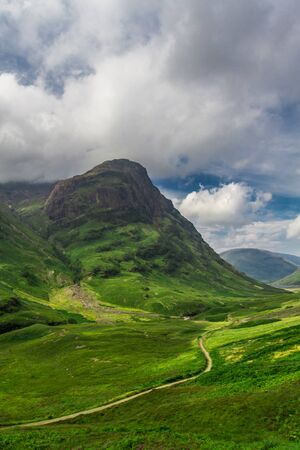 Footpath in the Scotland highlands in summer photo