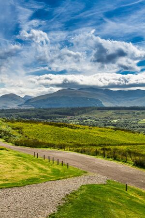 Beautiful views of the Scottish highlands in summer photo