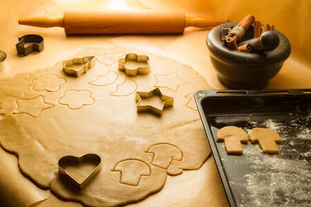 Preparation of gingerbread cookies for Christmas decorations Stock Photo - 15963751