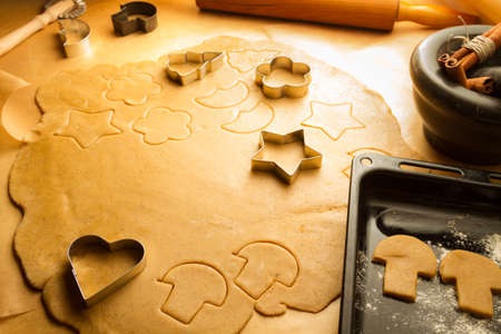 Preparing to make gingerbread cookies for Christmas Stock Photo - 16272259