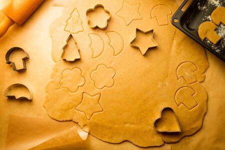 Closeup of gingerbread cookies for Christmas Stock Photo - 16272449