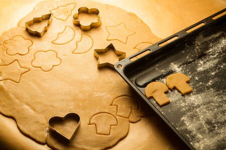 Homemade gingerbread cookies for Christmas Stock Photo - 16272454