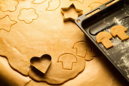 Homemade Christmas cookies made ​​of gingerbread photo