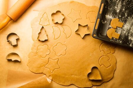 Close-up of homemade gingerbread cookies Stock Photo - 16272418