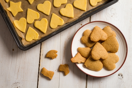 Closeup of homemade gingerbread cookies on a plate Stock Photo - 16272430