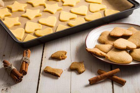 Taste just baked homemade gingerbread cookies Stock Photo - 16272316