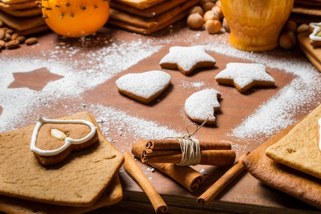 Close-up for the ingredients of Christmas cookies Stock Photo - 16397385
