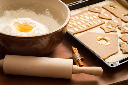 Prepare gingerbread cookies for Christmas photo