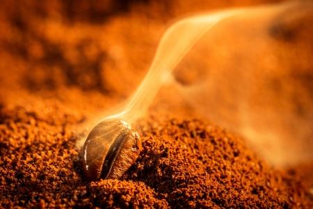 Aroma of coffee seeds roasting