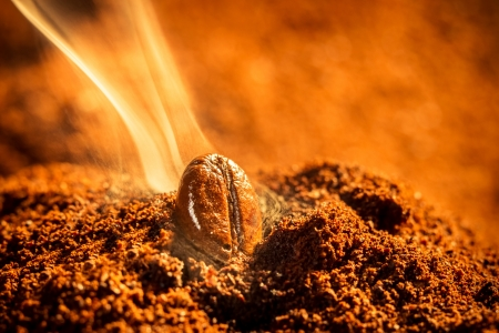 emitting: Grain roasted coffee aroma emitting Stock Photo