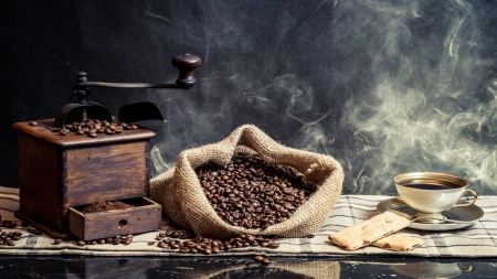 Smell of vintage brewing coffee photo