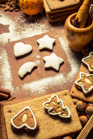 Christmas decorating gingerbread cookies photo