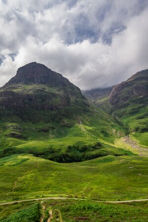 Beautiful footpath in highlands photo