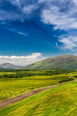 Views of the Scottish highlands in summer photo