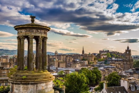 View from Calton Hill in sunny day photo