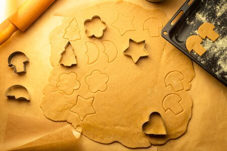 Closeup of gingerbread cookies for Christmas Stock Photo - 16824039