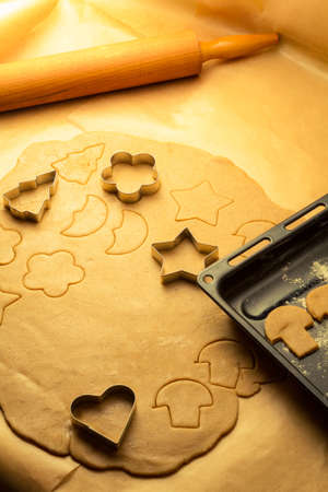 Cookies made from gingerbread just before baking Stock Photo - 16824003