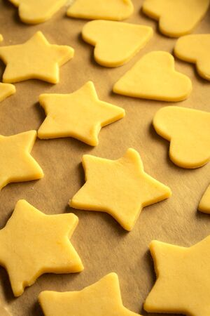Christmas cookies ready for baking Stock Photo - 16823906