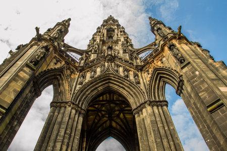 scott monument: Scott Monument in sunny Edinburgh Editorial