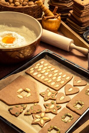 Ingredients for gingerbread cookies Stock Photo - 16824138