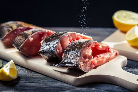Fresh fish preserved in salt before frying Stock Photo - 17088847