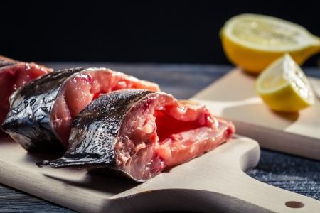 Fresh carp flavored lemon and salt Stock Photo - 17088762