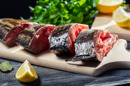 Preparation of fresh fish to fry Stock Photo - 17088856