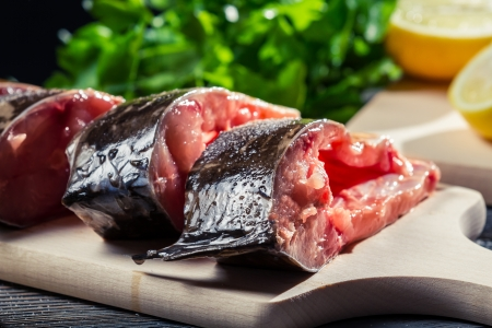 Close-up of fresh fish preparation for frying Stock Photo - 17088806