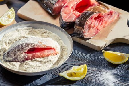 Fresh fish cooked in a homemade way Stock Photo - 17088936