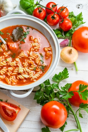 Preparing to do the spring tomato soup Stock Photo - 17127404
