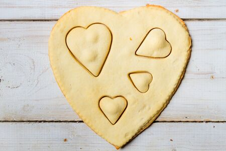 Shape of heart baked in a sweet cookie Stock Photo - 17127249