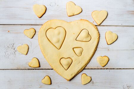 Shape of heart baked in a sweet cookie Stock Photo - 17127218
