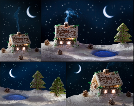 Poster gingerbread cottages for Christmas photo