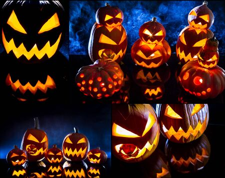 jack o latern: Postcard for the feast of Halloween no. 2