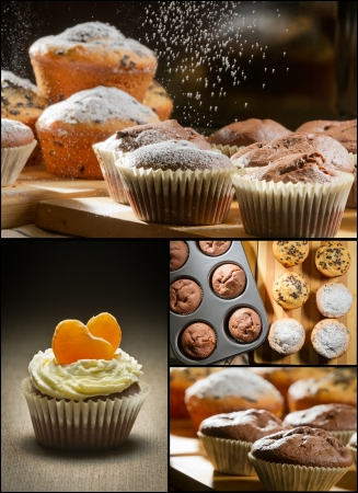 Collage of different types of muffins no. 2 photo