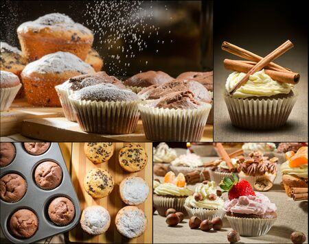 Collage of different types of muffins no. 3 Stock Photo - 17234633
