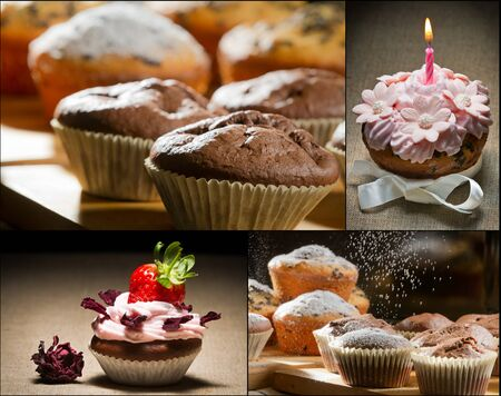 Collage of different types of muffins no. 4 photo