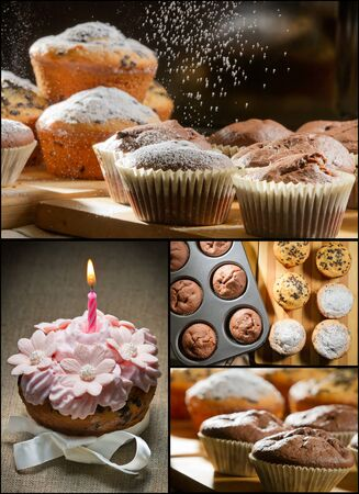 Collage of different types of muffins no. 5 photo
