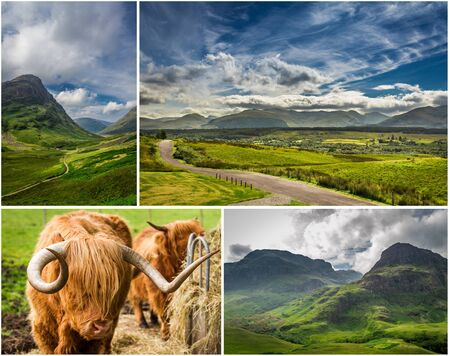 Postcard from the sunny highlands in Scotland photo