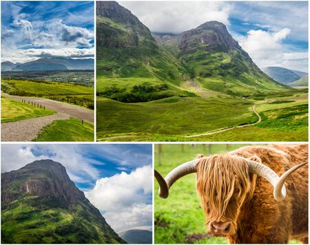 typically scottish: Postcard from the highlands in summer Stock Photo