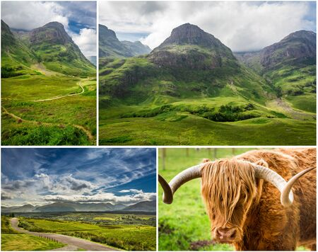Postcard from the highlands in Scotland photo