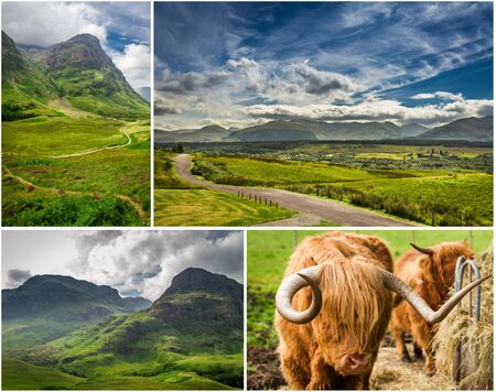 Postcard from the mountains of Scotland in summer photo