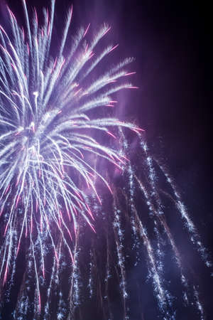 panoply: Multicolored fireworks during the celebrations