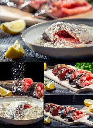 Preparing fresh fish to fry Stock Photo - 18155503