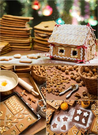 Gingerbread cottage for Christmas photo