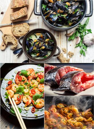 Taste a variety of seafood photo