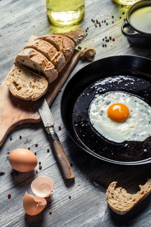 Fresh egg for breakfast in the countryside Stock Photo - 18268740